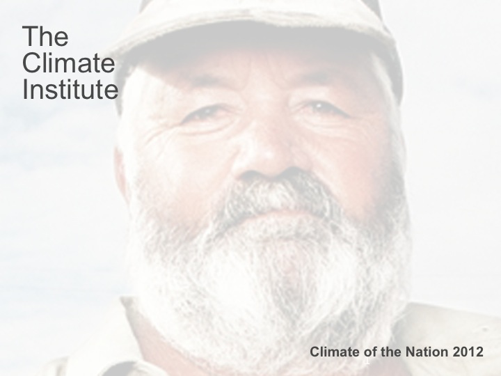 The Climate Institute's 'Climate of the Nation 2012'
