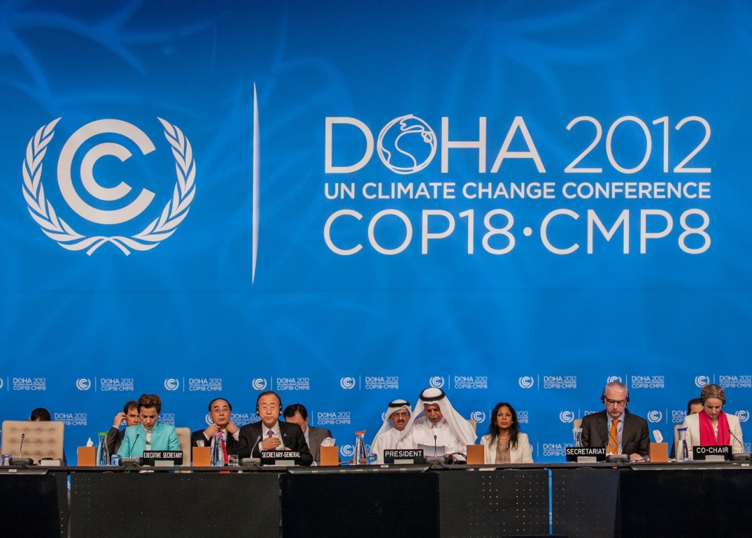 The UNFCCC negotiations in Doha, Qatar. Photo: Alexander Vlad.