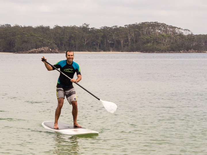 Stand up paddleboarding at Bendalong