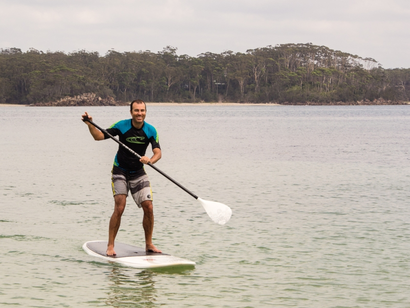 Stand up paddleboarding at Bendalong